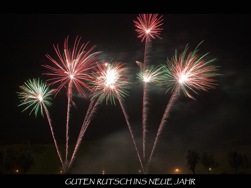 Einen guten Rutsch und ein glückliches und gesundes neues Jahr Foto ...