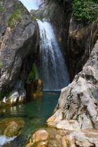 Einer der wenigen Wasserfälle aus Spanien