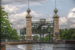 Einfahrt des alten Schiffhebewerkes Henrichenburg im HDR