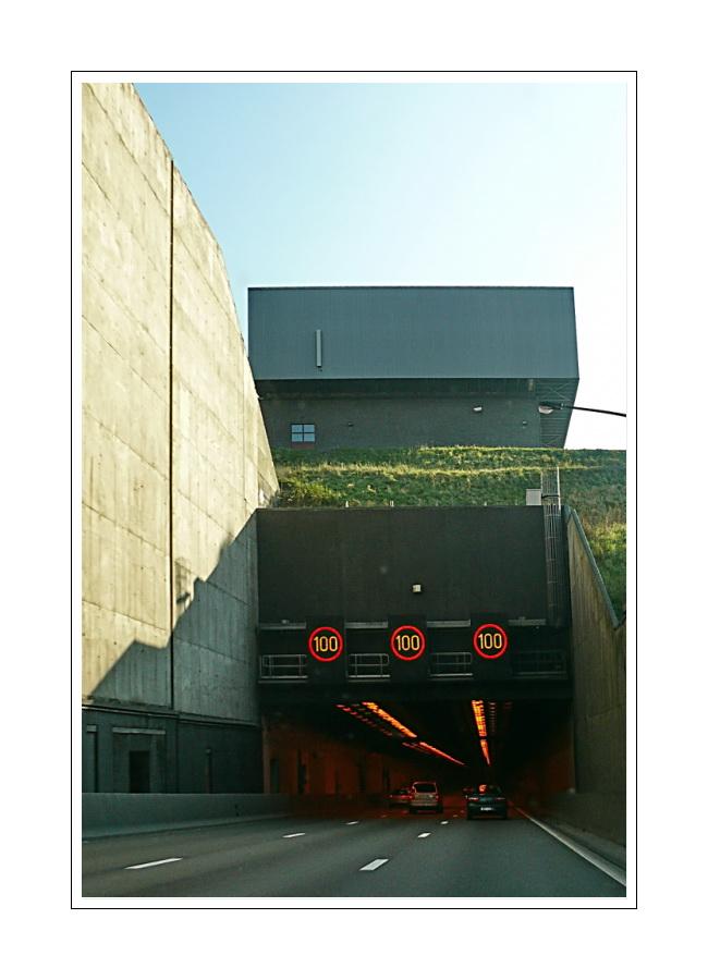 Einfahrt, Kennedy Tunnel (Antwerpen) Richtung Wuppertal, Sonnenbrunnenstr.