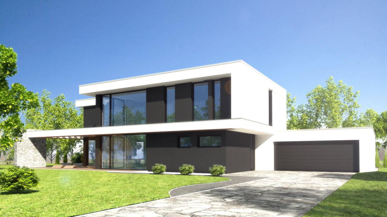 Einfamilienhaus im bauhausstil an der ostsee foto bild rendering stillleben objekte ostsee - Bauhausstil architektur ...