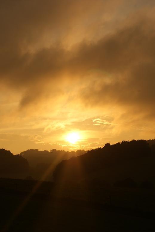 einfarbiger Sonnenuntergang