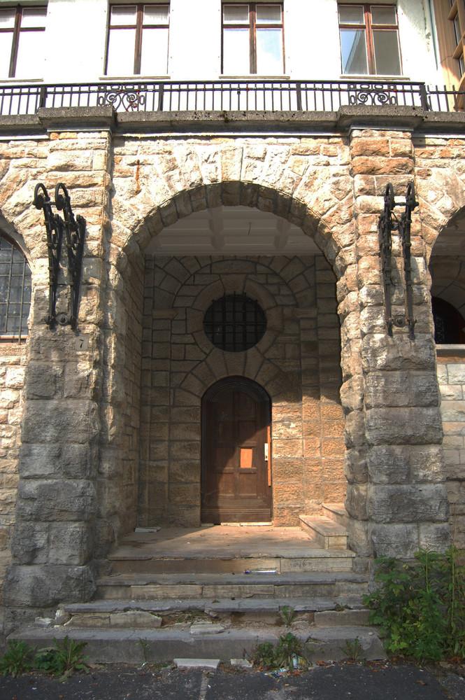 Eingang in die Villa
