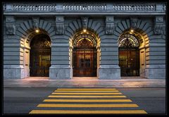 Eingang ins Regierungsgebäude
