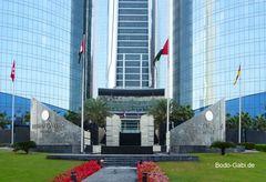 Eingang zu den Etihad-Towers