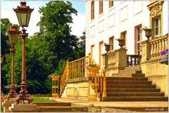 Eingang zum Fürst-Pückler-Schloss