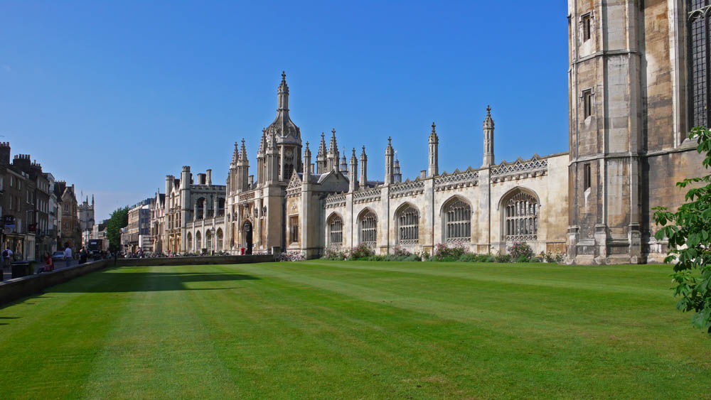 Eingang zum Kings College in Cambridge