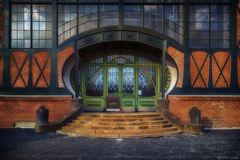 Eingang zum Maschinenhalle der Zeche Zollern