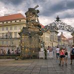 Eingang zum Matthiastor, Hradschin, Prag, Tschechische Republik