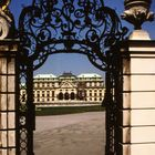 Eingang zum Schloß Belvedere