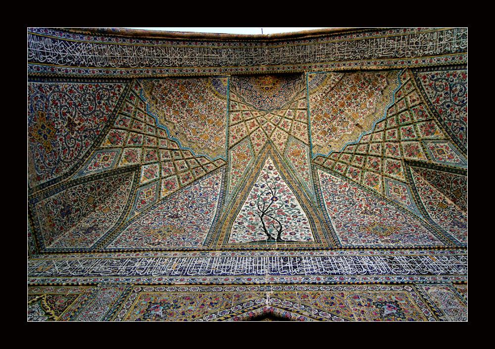 Eingangsiwan der Wakil Moschee in Shiraz
