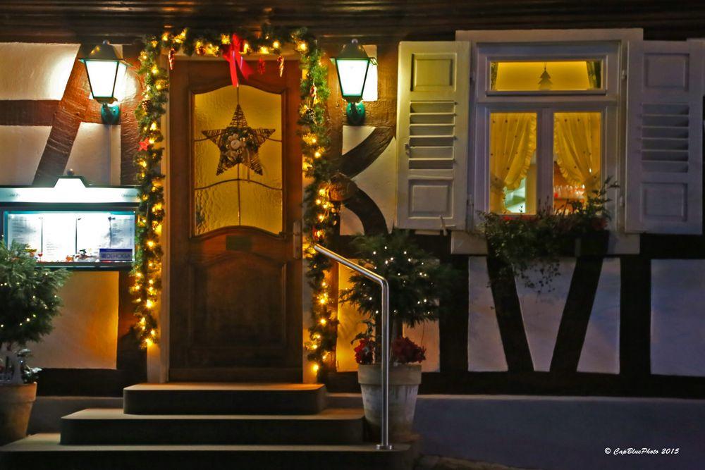 Eingangstür zum Restaurant in Kappelwindeck (Nähe Bühl Baden)