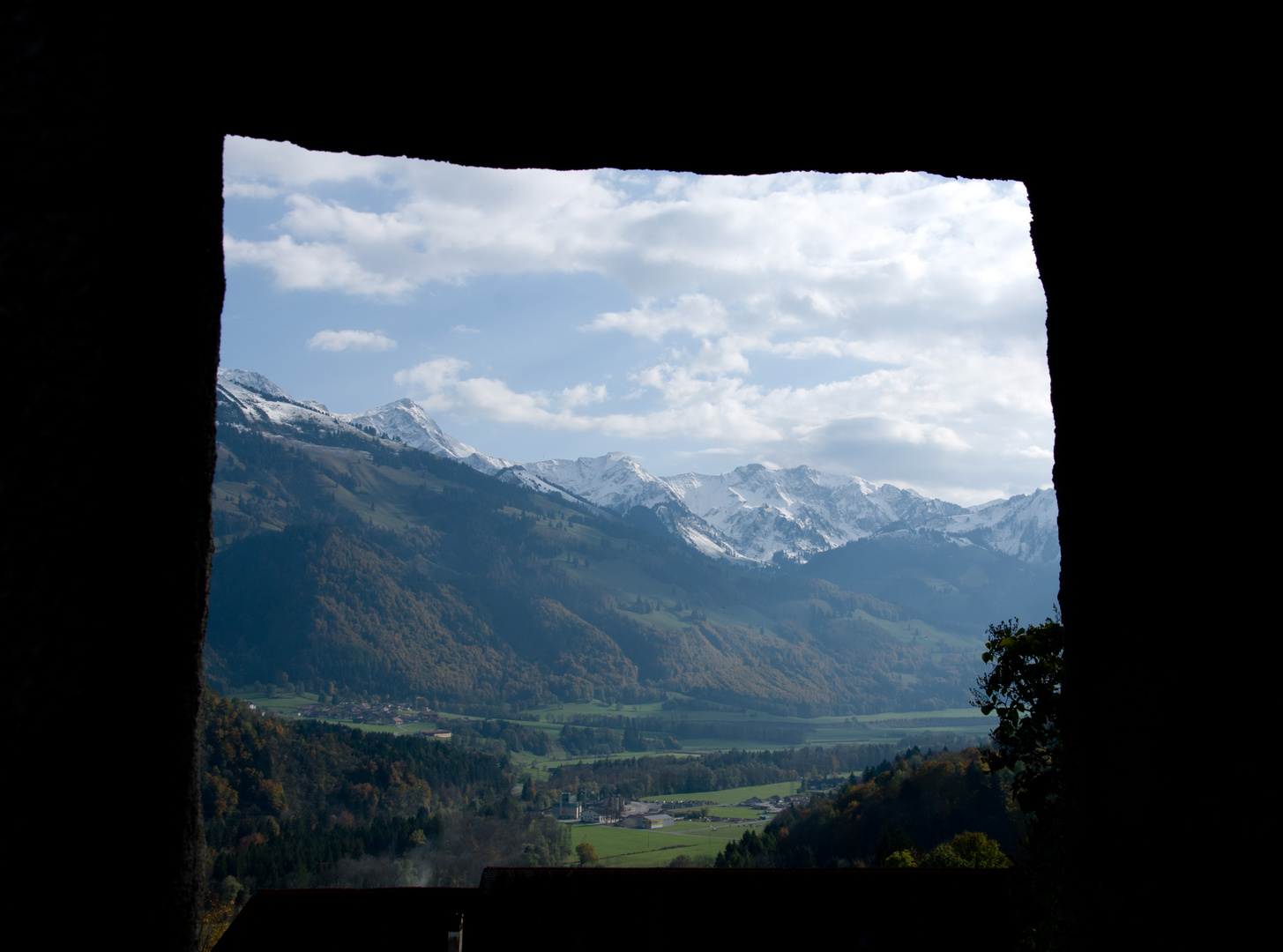 Eingerahmte Berge