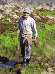 Einheimischer auf Teneriffa beim Tintenfischfang