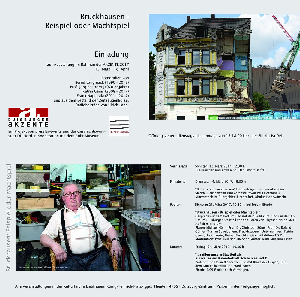 Einladung: Bruckhausen - Beispiel oder Machtspiel?
