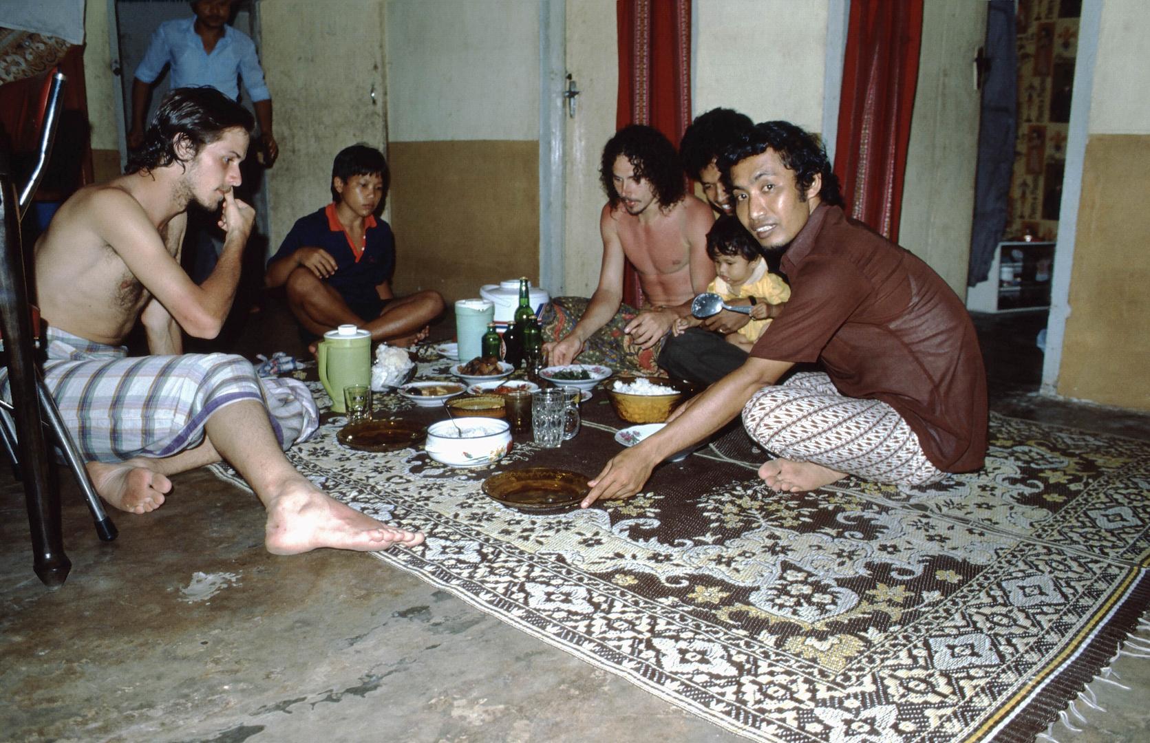 Einladung in Sumatra, 1984 (Arme Familie)