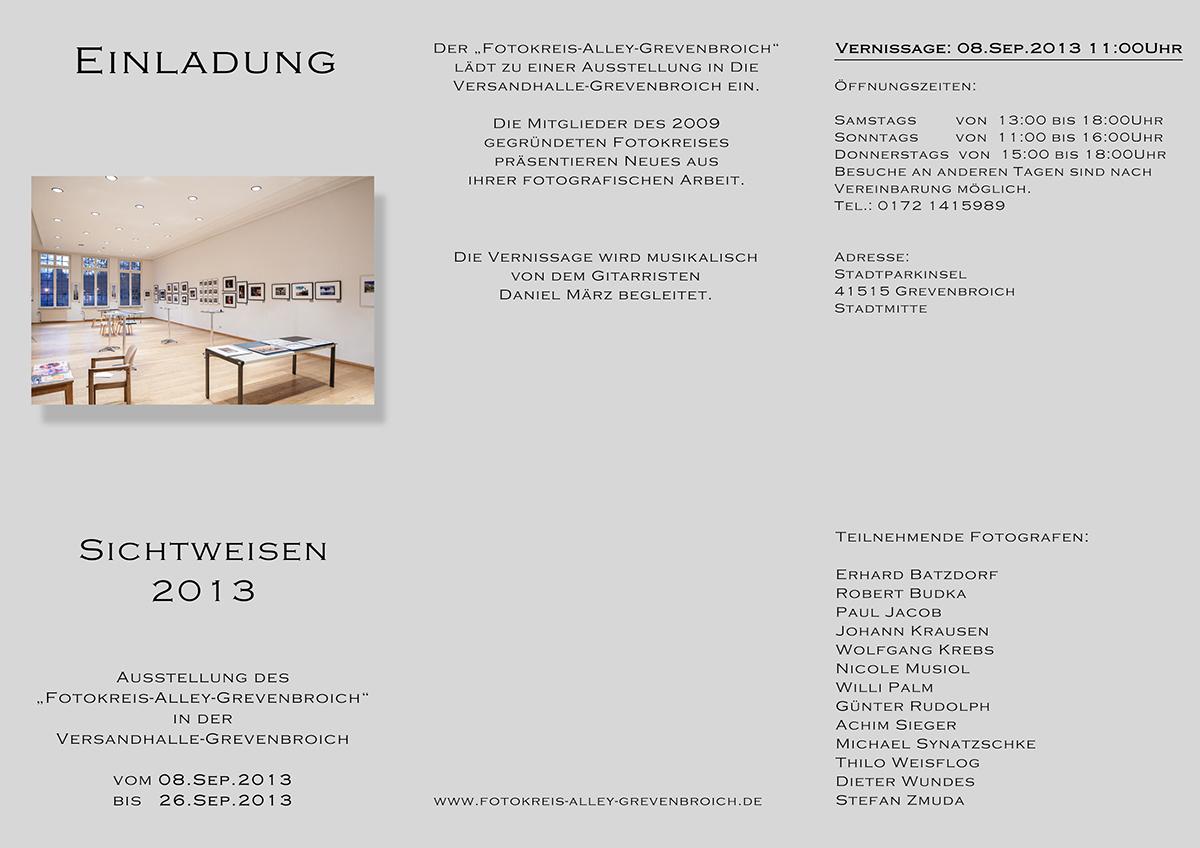 Einladung Sichtweisen 2013