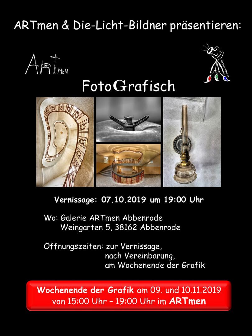 """Einladung zur Vernissage """"FotoGrafisch"""""""