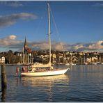 Einlaufen in den Flensburger Hafen