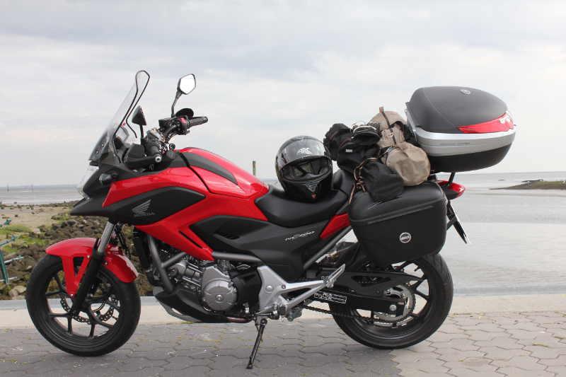 Einmal mit Motorrad an die Nordsee