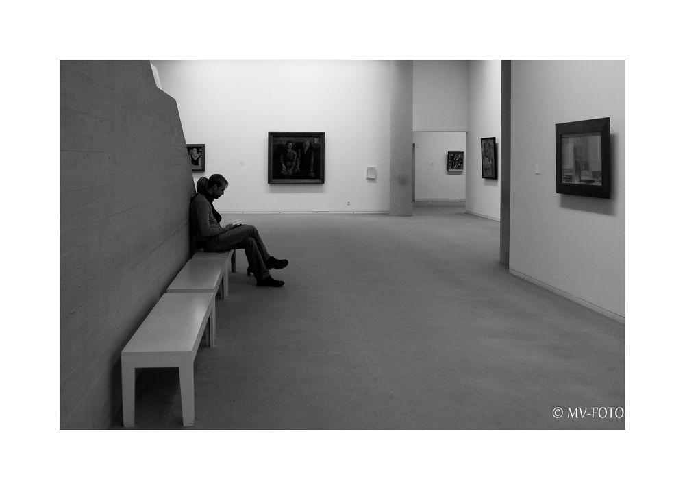 Einmal muss man ne Pause machen - auch im Museum