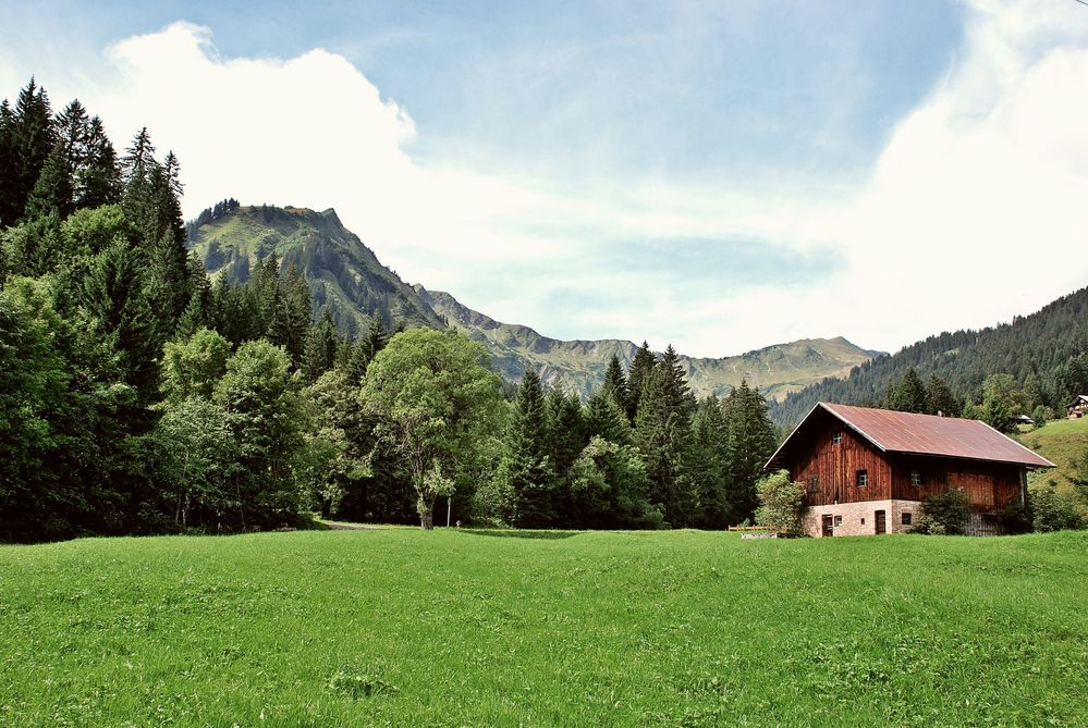 Einsame Hütte