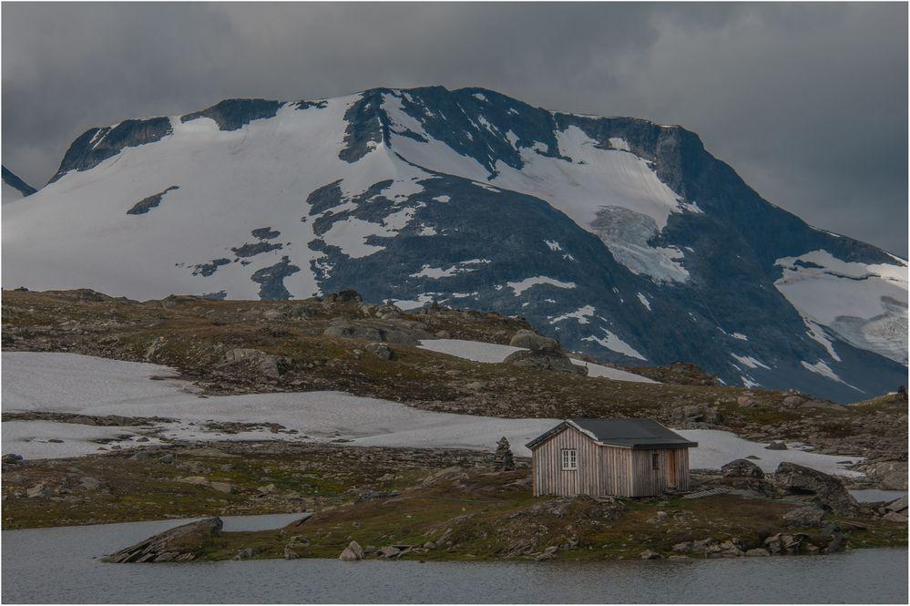 Einsame Hütte ohne Schafe