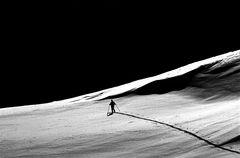 Berge in Schwarzweiß