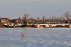 einsamer Eisläufer