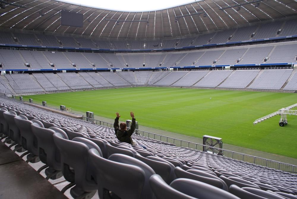 einsamer Fan in der Allianz Arena