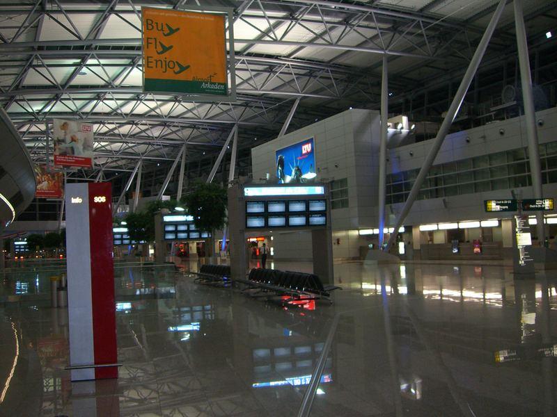 Einsamer Flughafen