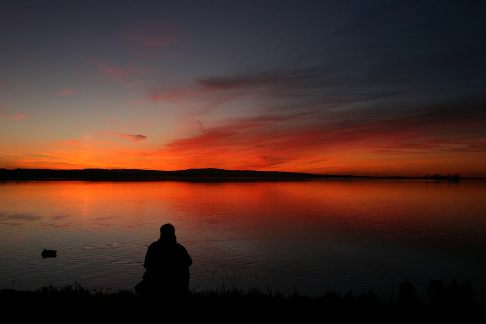 einsamer Fotograf am Steinhuder Meer