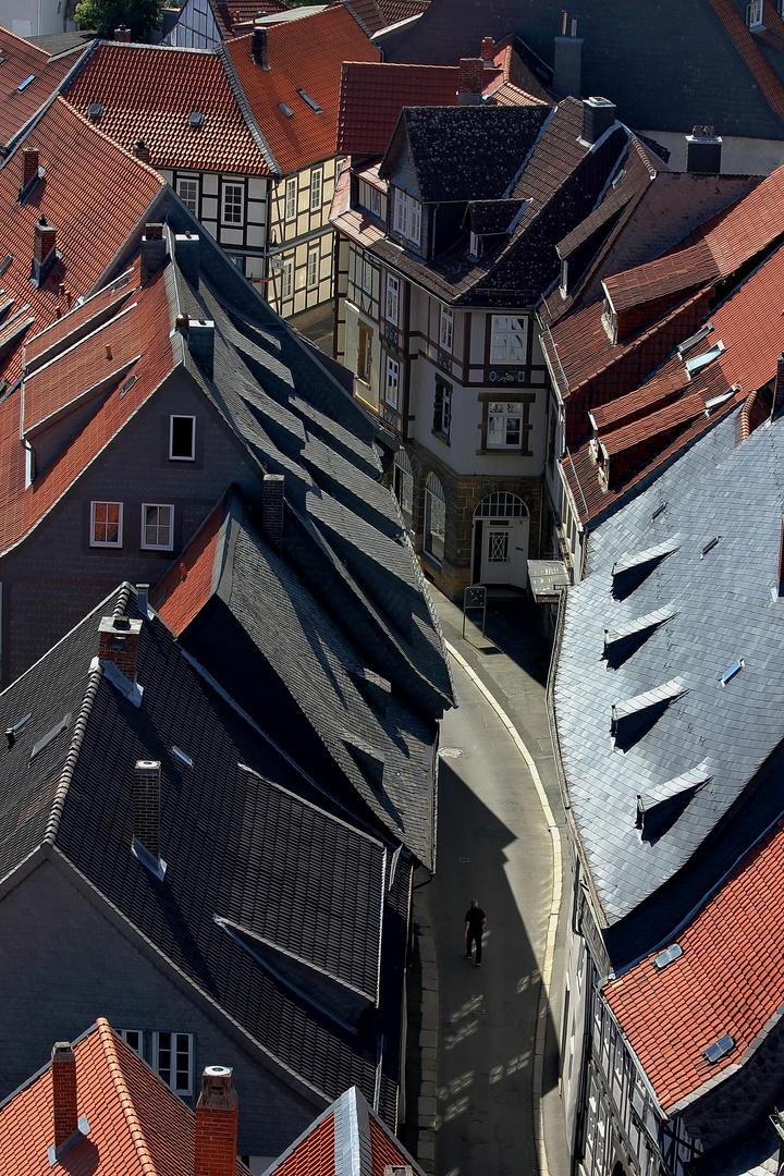 Einsamer Mann in Goslar