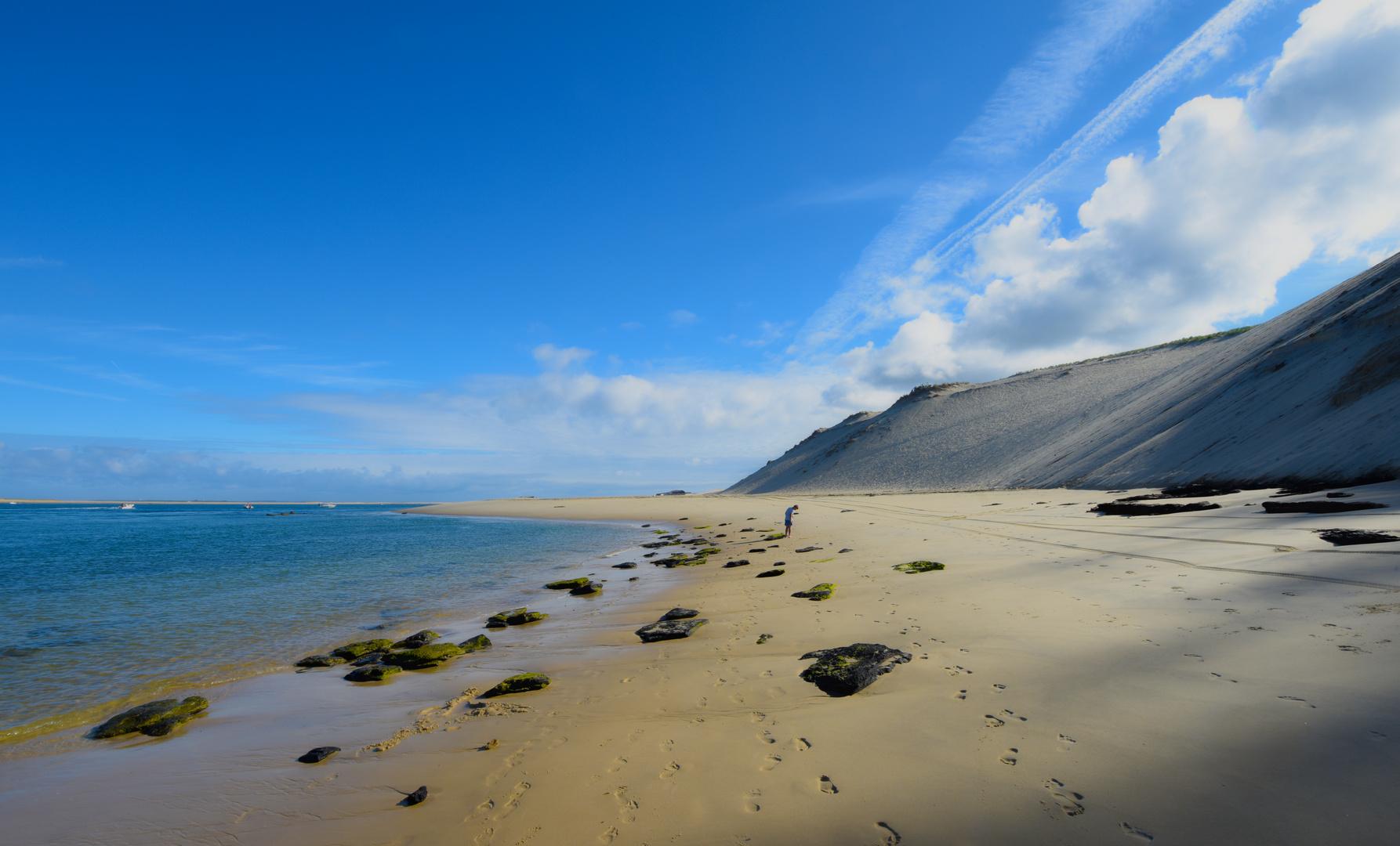 einsamer Strand bei Arcachon