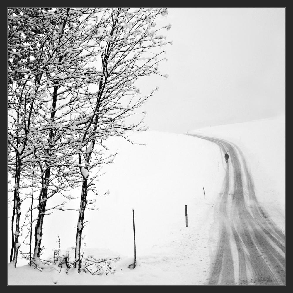Einsamer Winterwanderer