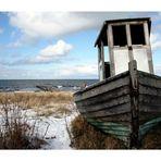 Einsames Boot an der Ostsee...