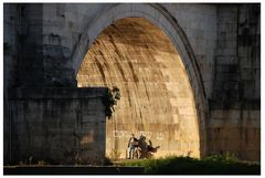 Einsames Konzert am Tiber