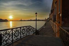 Einsames Venedig die Insel erwacht
