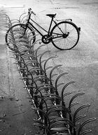 Einsames Zweirad...