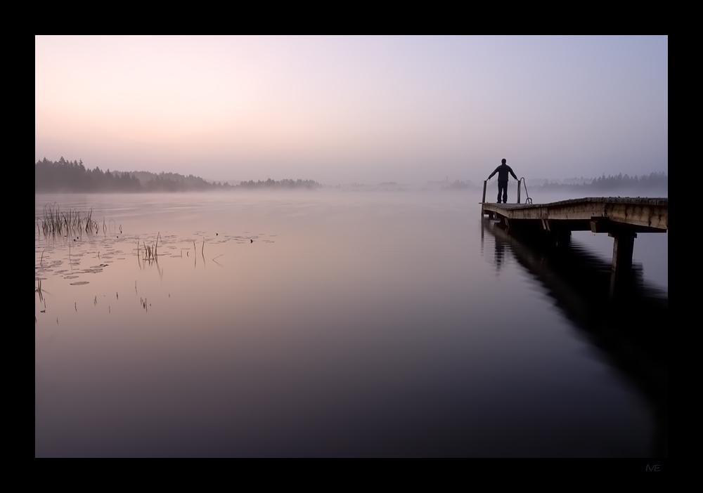 Einsamkeit und gleich die Schönheit genießen