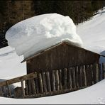 Einseitige Schneelast