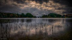 Einsetzender Regen am Illasbergsee