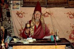 Einsiedlermönch im Annapurna-Gebiet bei Manang
