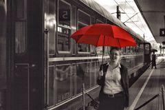 Einstieg am roten Schirm.....
