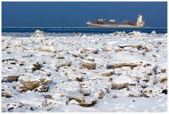 Eis an der Nordseeküste