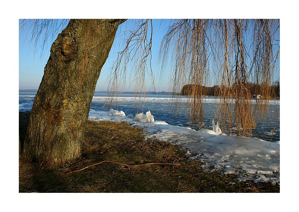 Eis auf dem Schweriner See