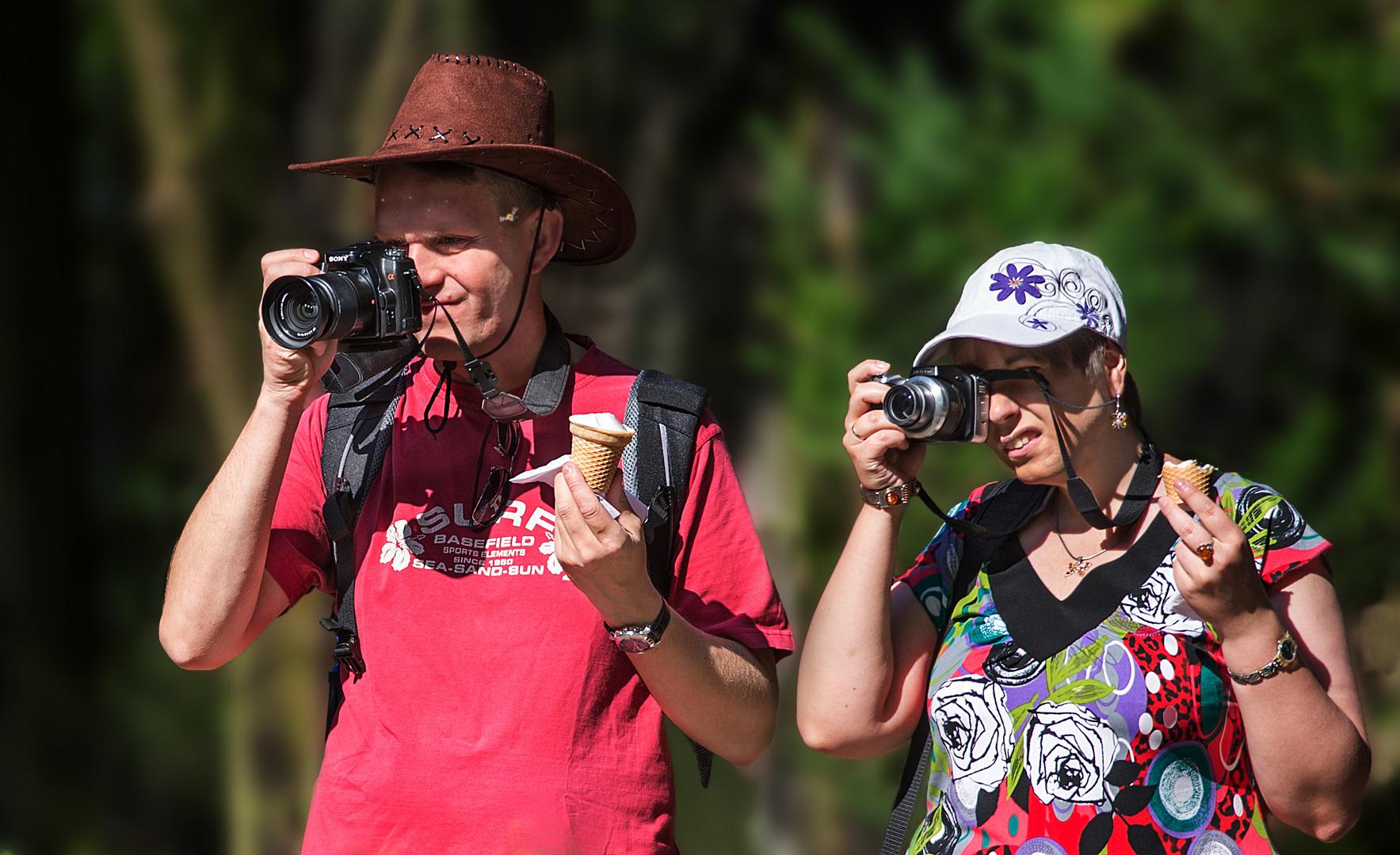 Eis essen und fotografieren - geht beides zusammen ....
