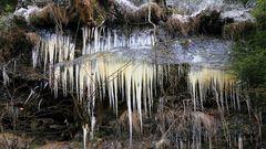 Eis im Bielatal in der Sächsischen Schweiz...wobei es dieses Jahr...