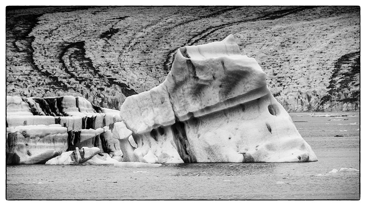 Eis im Jökulsarlon