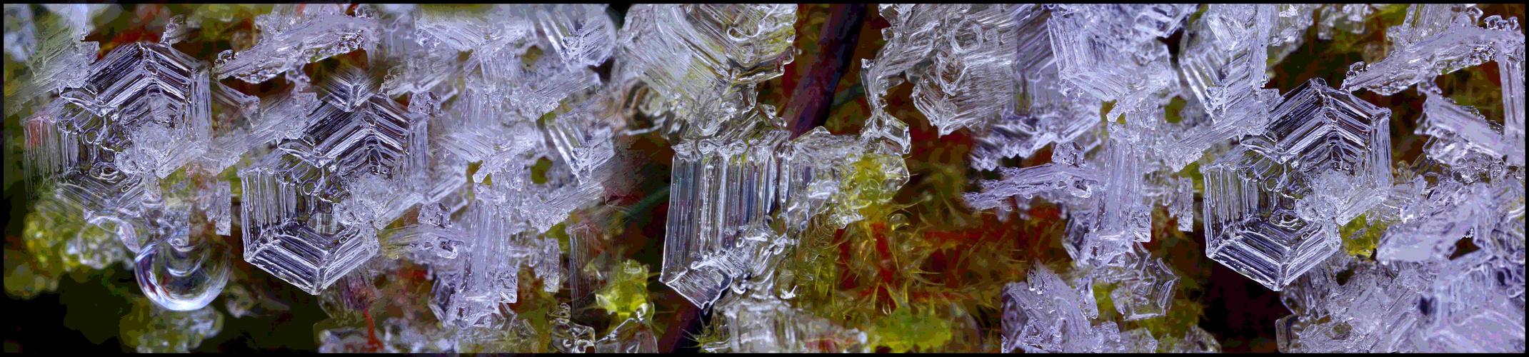 Eis Kristalle